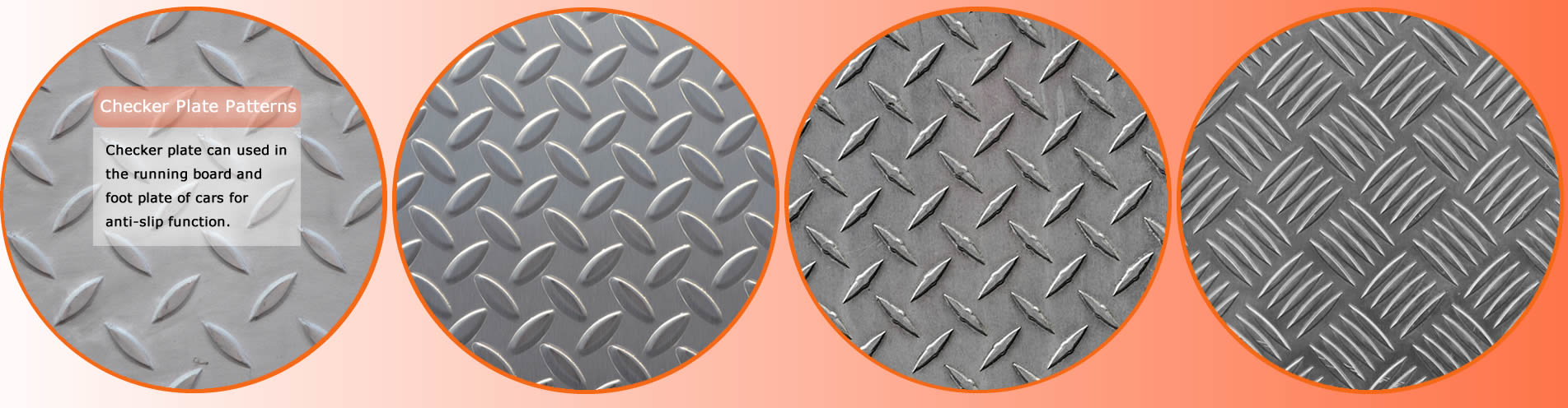 Four patterns of checker plate.