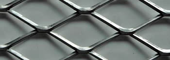 A part of expanded metal grating.