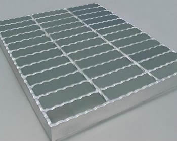 A piece of serrated bar steel grating.