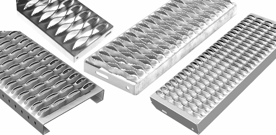 Four width of diamond safety grating with different holes.